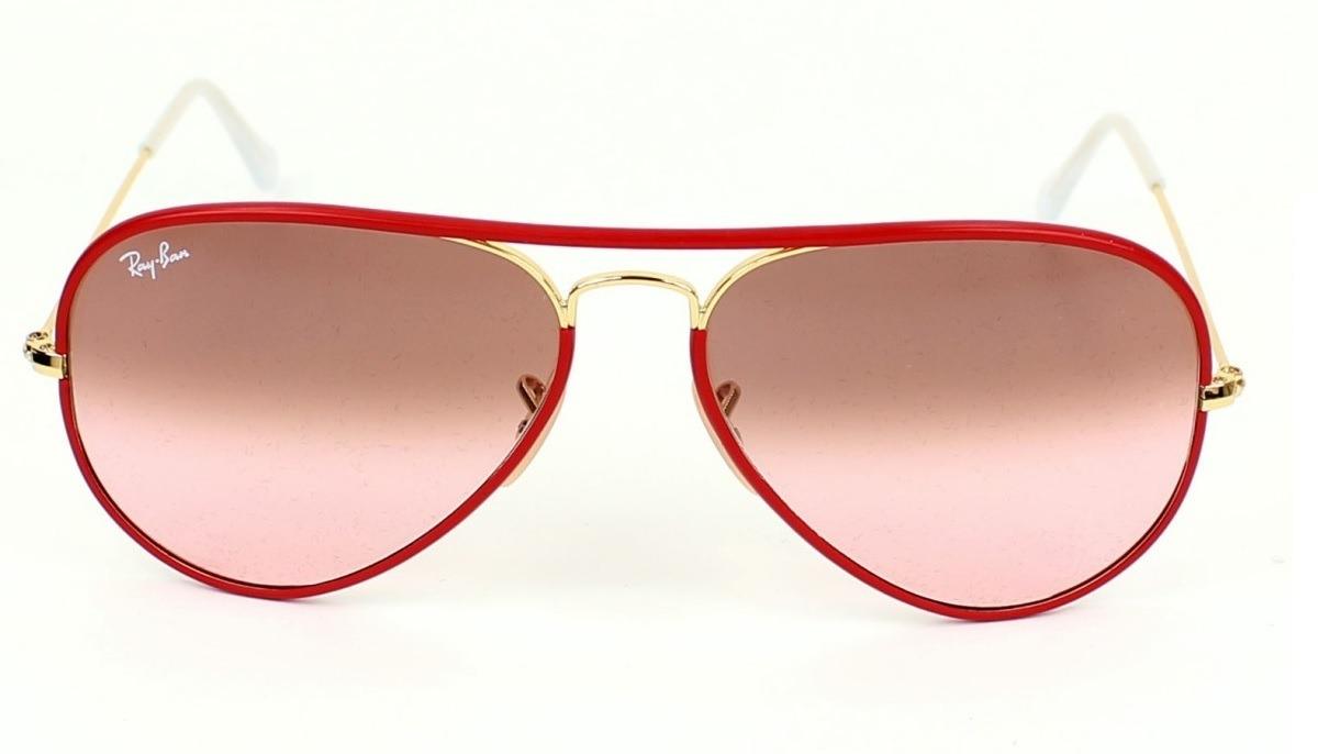 abadf1d972 gafas ray ban aviador full color 3025 rojo flash originales. Cargando zoom.