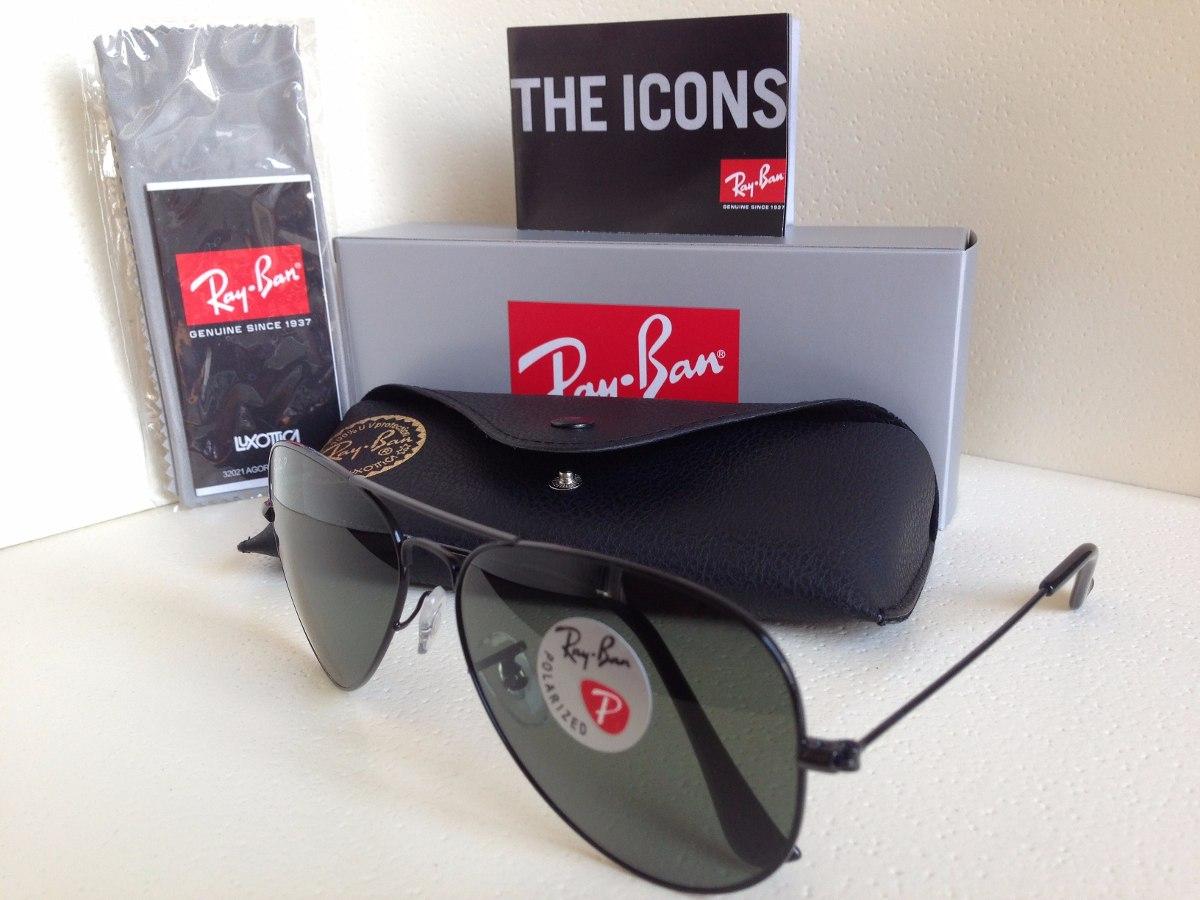 7c3ea2290202e gafas ray ban aviador negras polarizadas 100% originales. Cargando zoom.