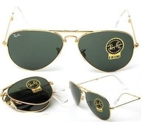 41fb9aebfc Gafas Rayban Aviador Doradas Lente Verde - Gafas en Mercado Libre ...