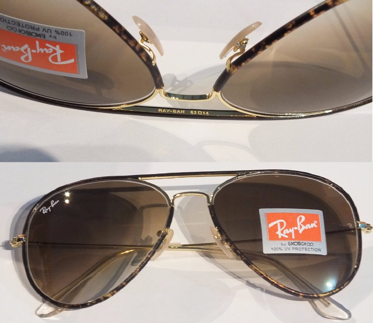 lentes ray ban aviator full color carey