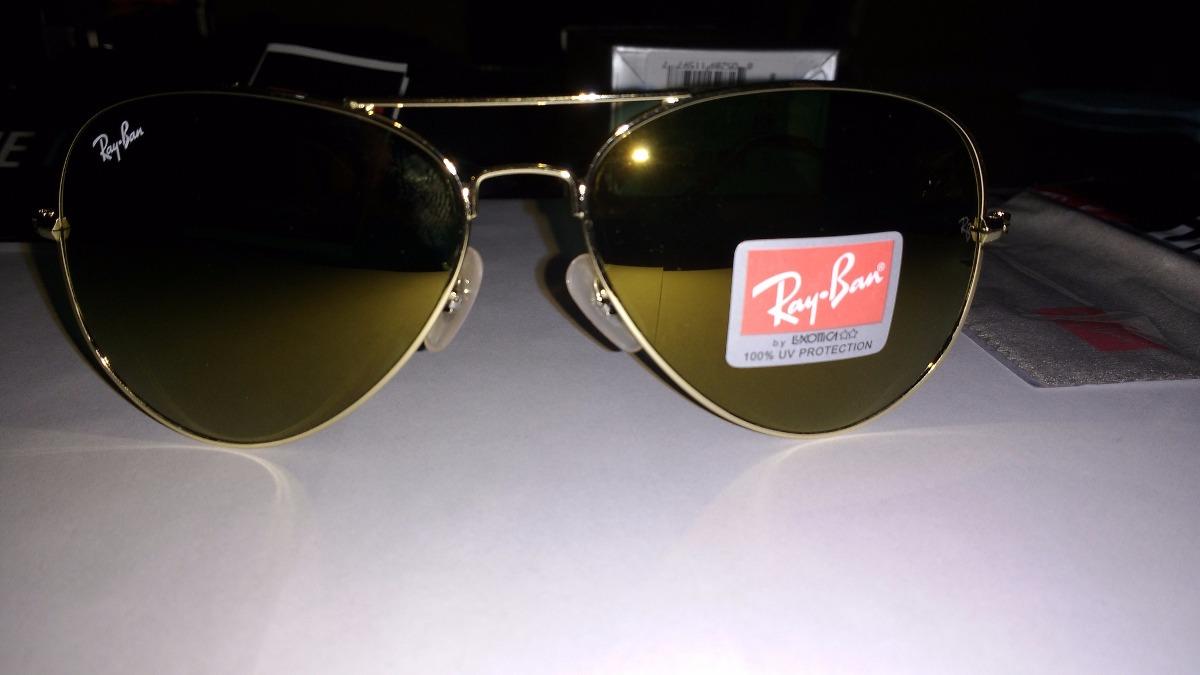 8a80f3097a gafas ray ban aviator gold 24 kilates aviador espejo 3025. Cargando zoom.