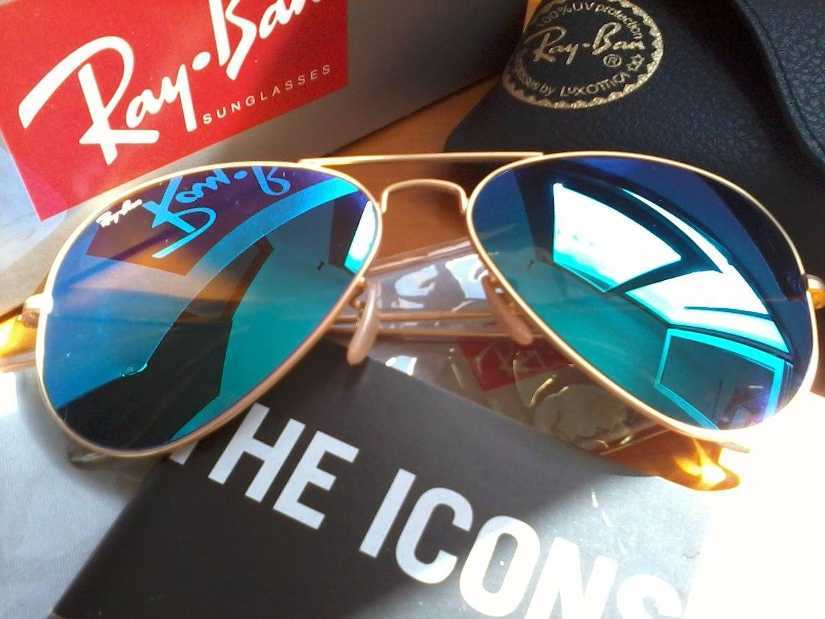 Gafas Ray Ban Azul Espejado ! Mercadopago,motopartes Marcos! - $ 900 ...