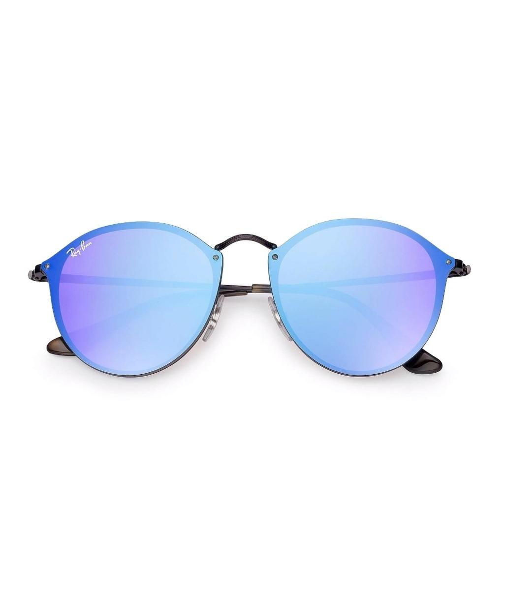 Boutique en ligne c7fb0 e87ff Gafas Ray Ban Azules Round Blaze Rb3574n 1537v Redondas