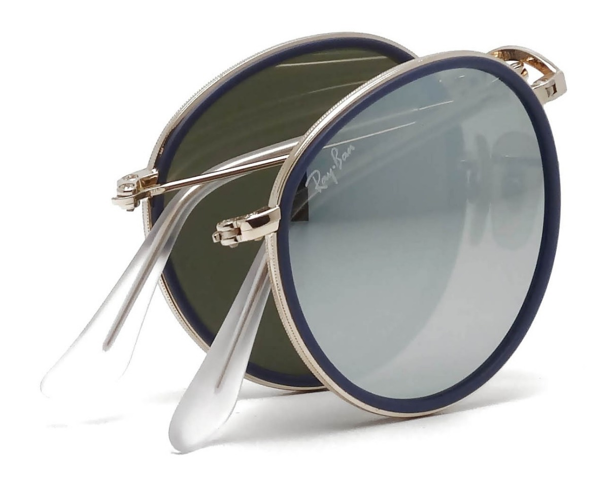 5bba256370 gafas ray ban folding round metal plateado italy. original. Cargando zoom.