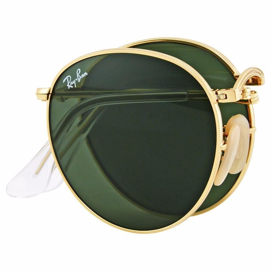 ... usa gafas ray ban folding round metal verde originales italianos.  cargando zoom. bfed2 a1a41 8ff357833c