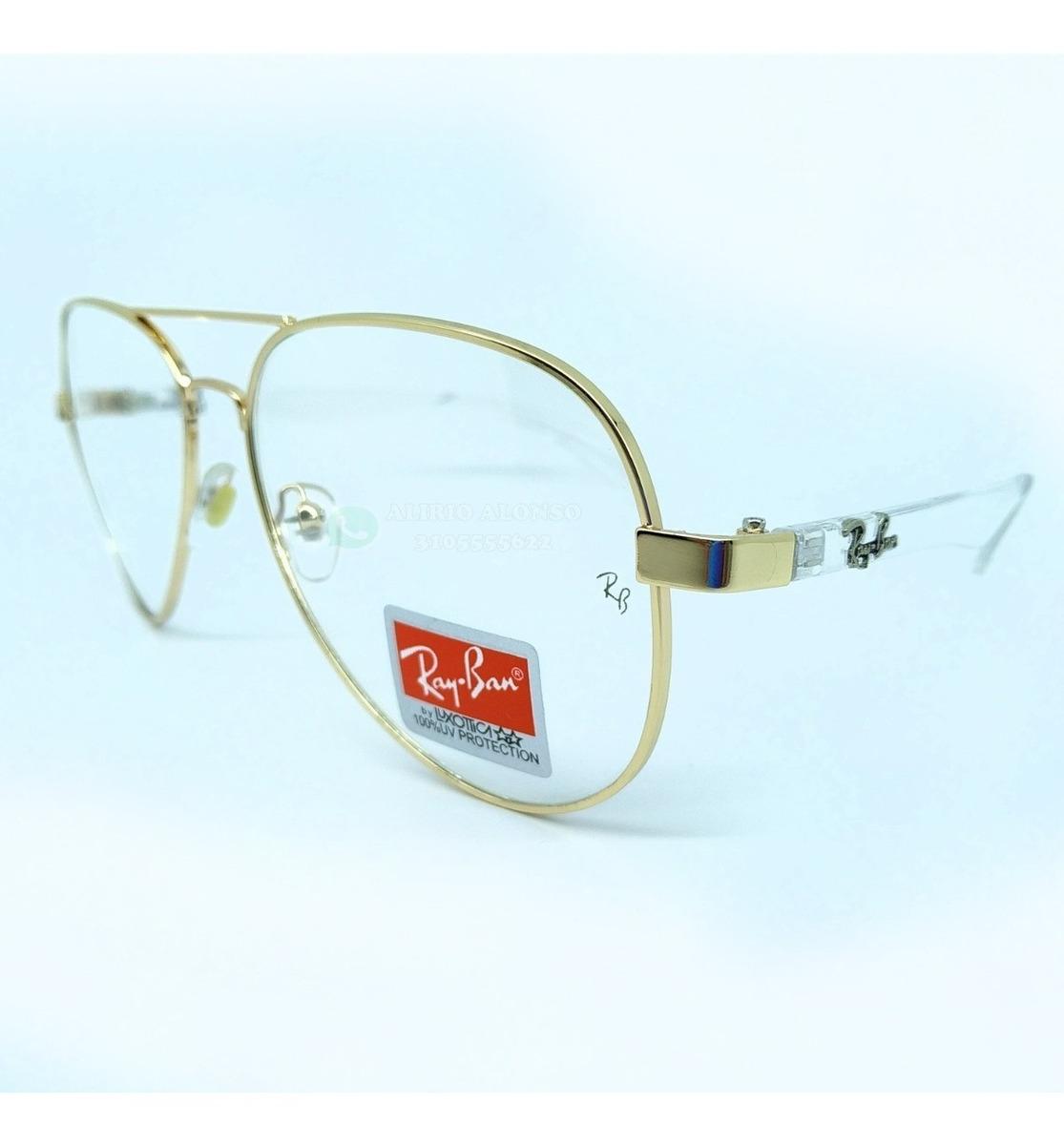 2d535c69b2 gafas ray ban montura piloto aviador transparente 50% off. Cargando zoom.