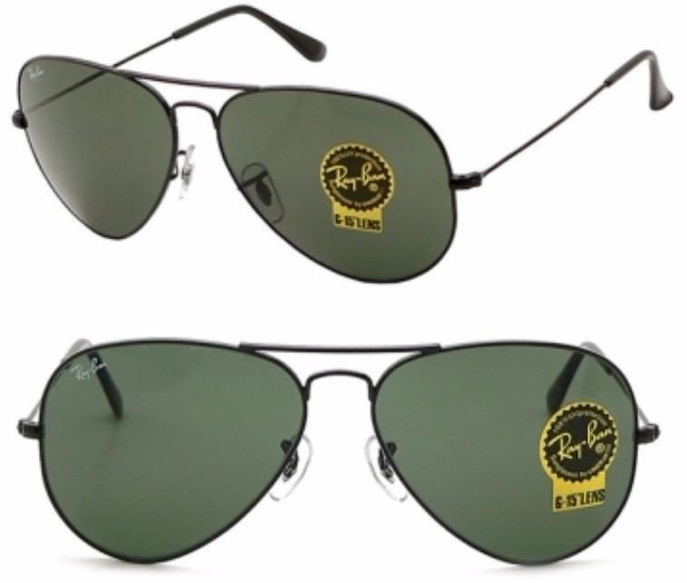 cb37050323af6 Gafas Ray Ban Negras Aviador Cristal Negro 3026 Grande -   899.00 en ...