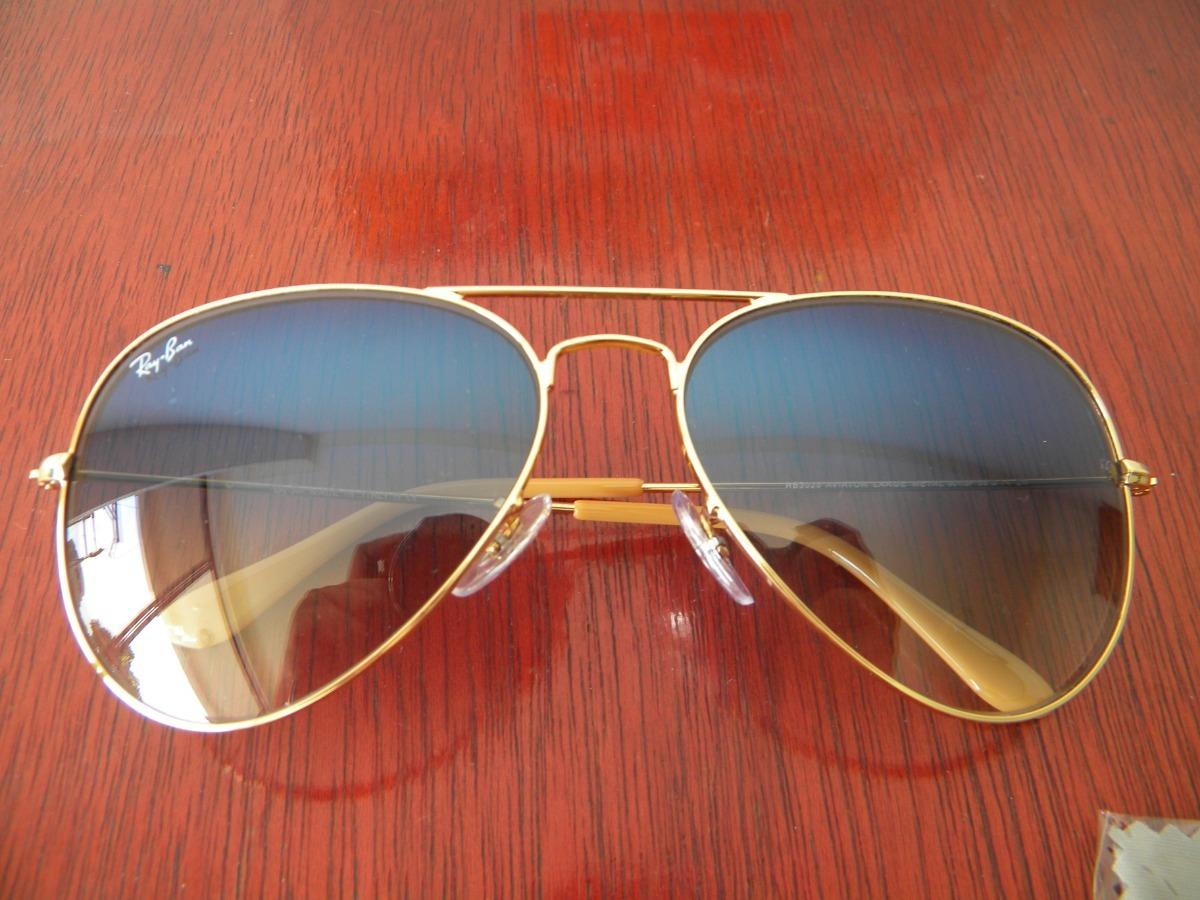 87bed44146 gafas ray ban originales aviador lente azul gradiente 3025. Cargando zoom.