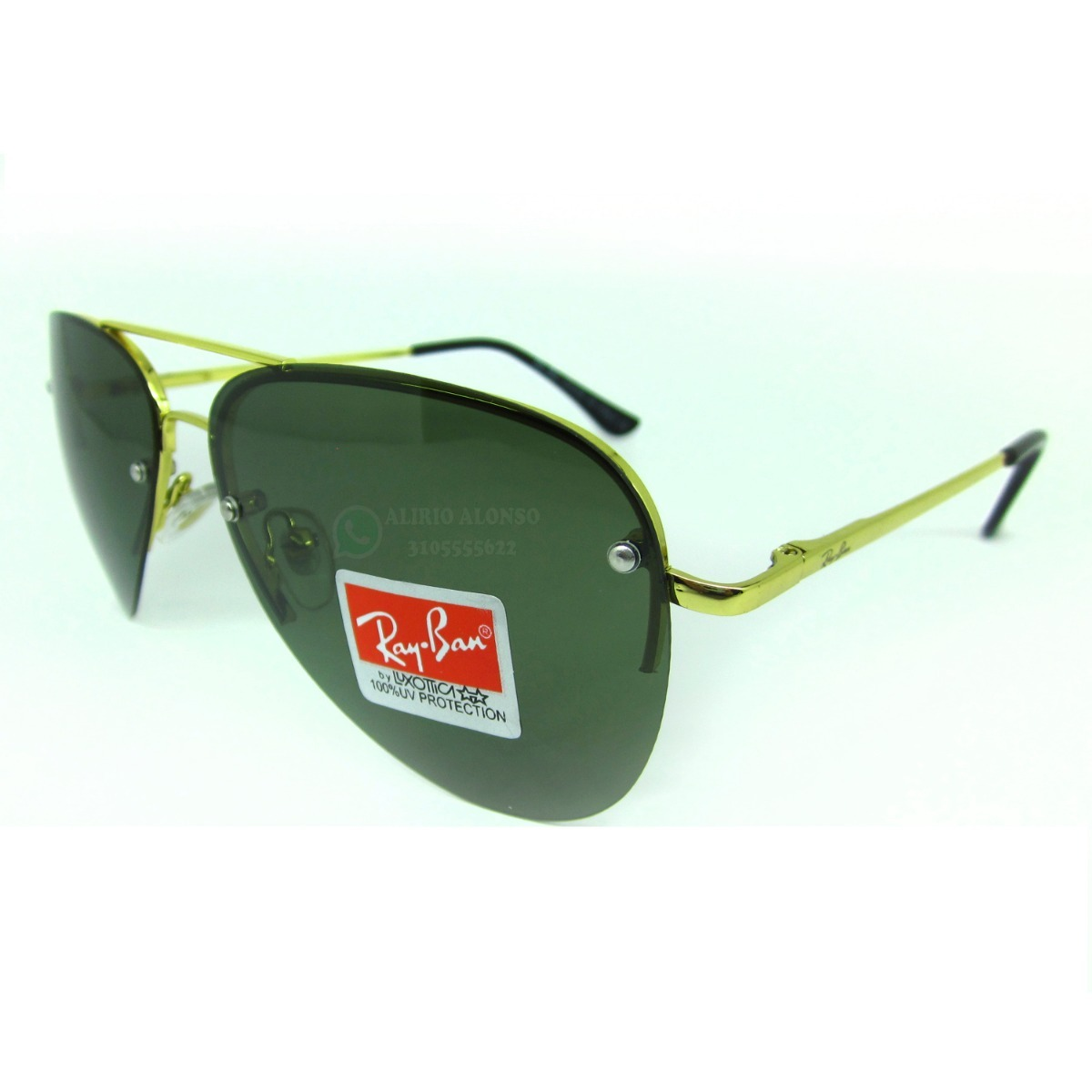 d619397eeb126 gafas ray ban piloto aviador polarizadas dorado 53mm 50% off. Cargando zoom.