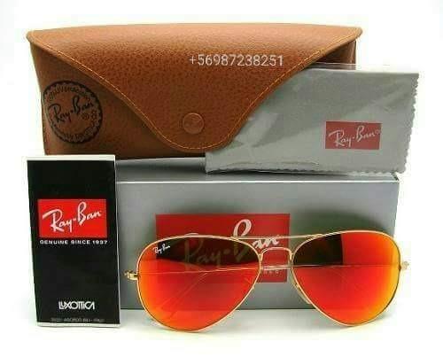 gafas ray ban lente rojo