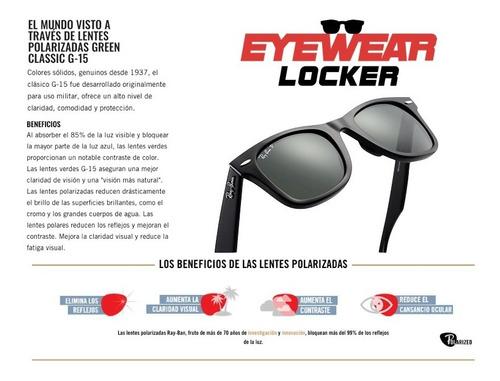 gafas ray ban wayfarer polarizadas 100% originales