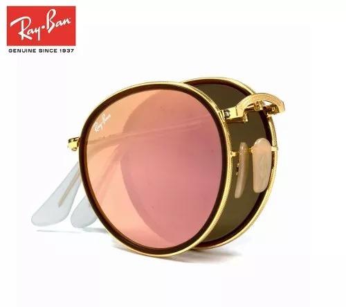 gafas rayban round metal pink