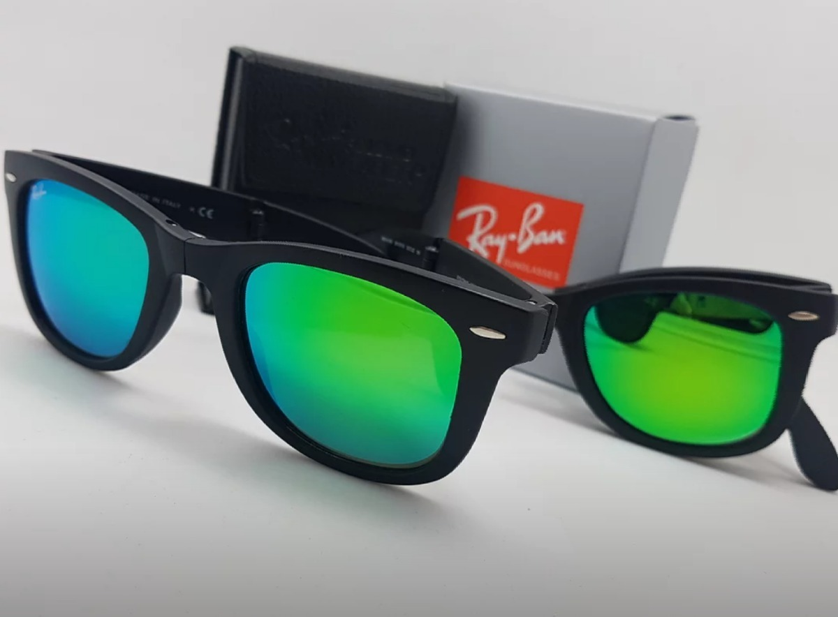 lentes ray ban folding wayfarer originales