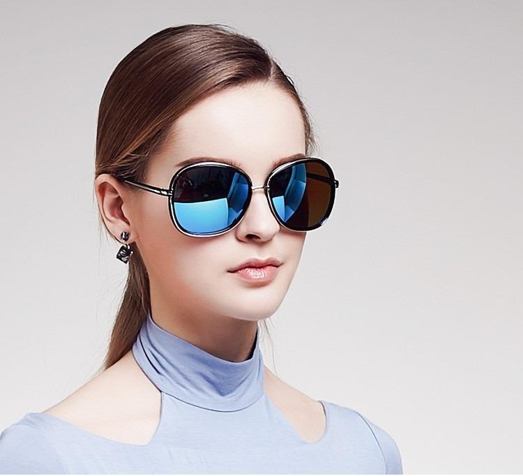 95bd45f93f Gafas Redondas Polarizadas Vintage Azul Kiki Modelo 1518 - $ 839.00 ...