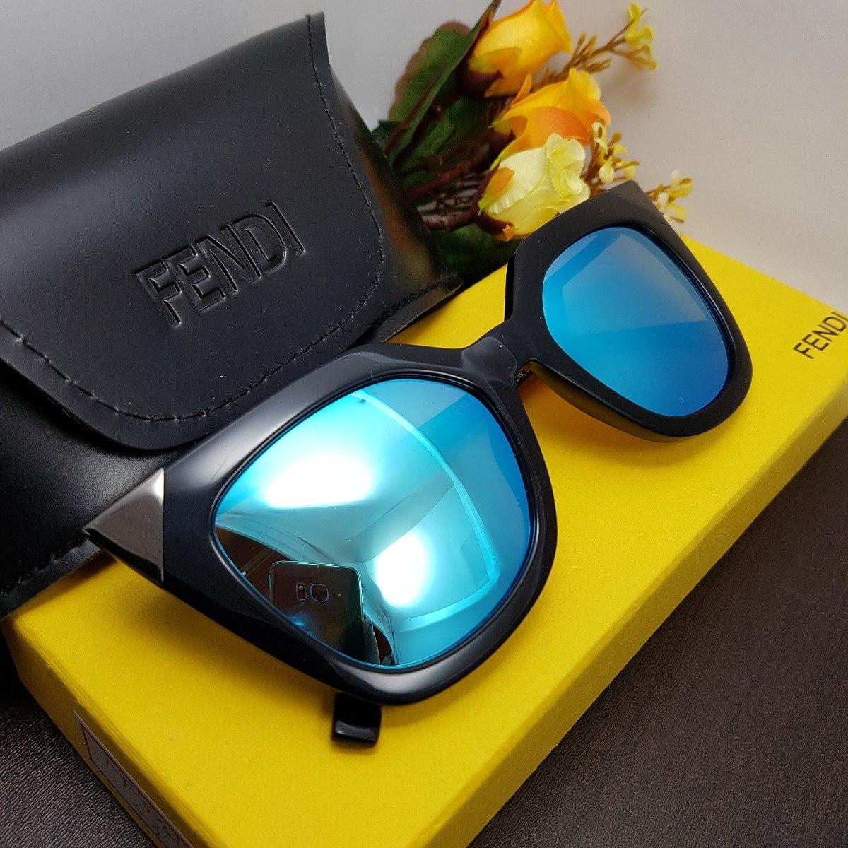 Gafas De Sol Fendi Cuadradas Marco Negro Mujer Ojos - $ 175.000 en ...
