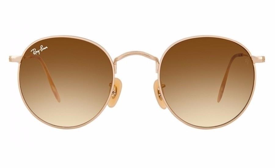 ce9aaab5f4 gafas sol ray ban round metal 3447 marron degrade originales. Cargando zoom.
