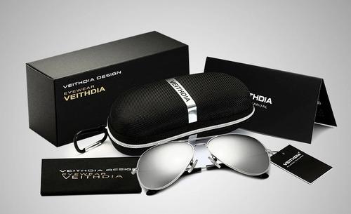 gafas tipo piloto con lentes polarizados hd original unisex