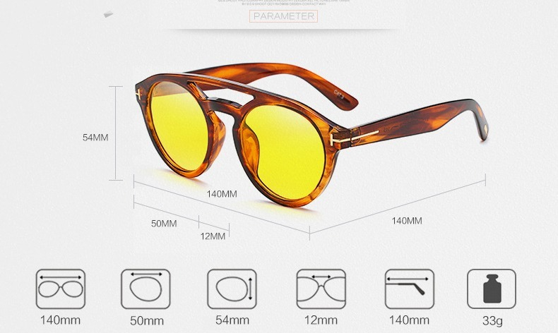 f477be2266 Gafas Tom Clint Diseñador Ford Tortoise Lentes Clear Hipster ...
