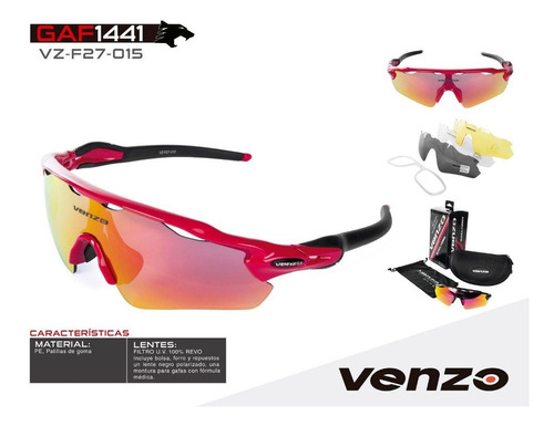 gafas venzo ciclismo running lentes intercambiables