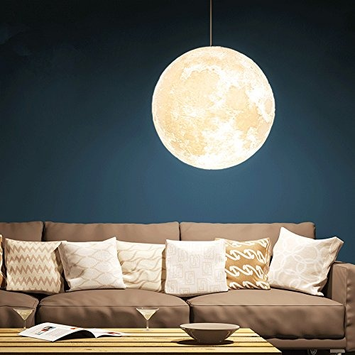 Colgante Techo Imprime 32 Que Luz Gahaya 3d Luna Lámpara La xBdCeo