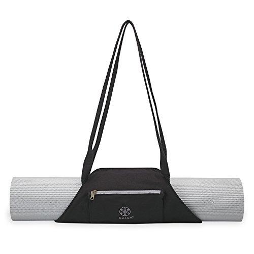 gaiam on-the-go yoga mat carrier, granite storm