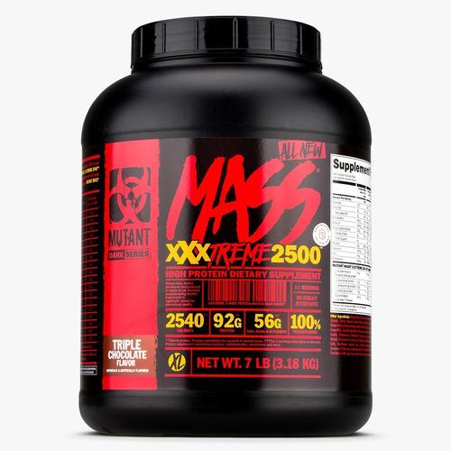 gainer mutant mass xxxtreme 2500 7 lbs ganador de peso