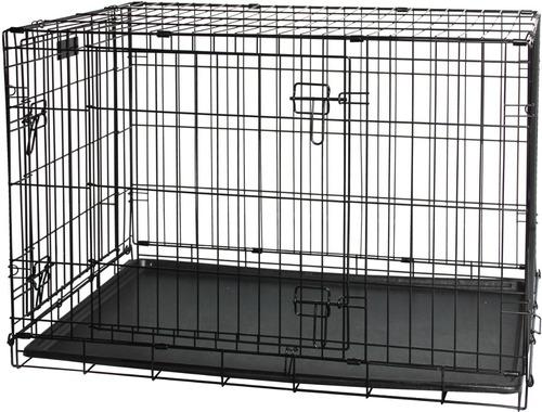 gaiola canil para cachorros tipo americana em aço inox