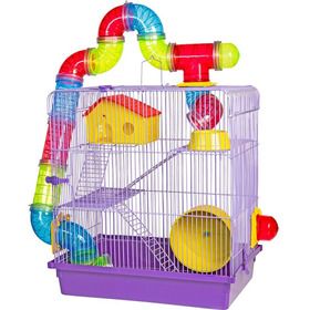 Gaiola Labirinto Gerbil Hamster 3 Andares Ótima Oferta