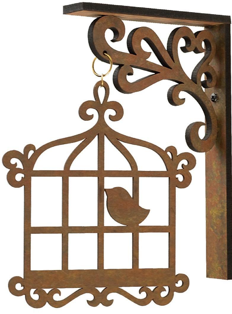 Aparador Ouro Branco Brilhantes ~ Gaiola Mdf Com Suporte,pássaros,árvores Provençal Artesanato R$ 19,99 em Mercado Livre