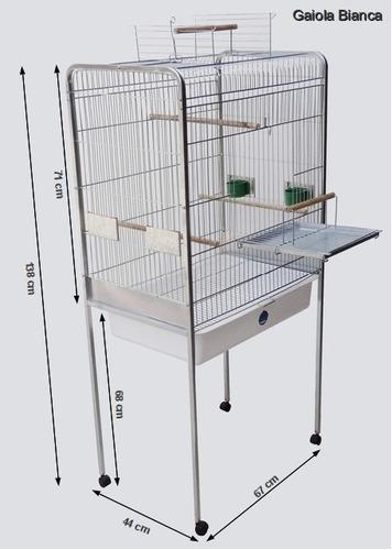 gaiola para calopsita ou papagaio - bianca