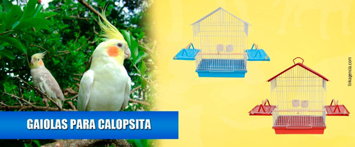 gaiola pra calopsita ou agaporni - vermelha - promoção