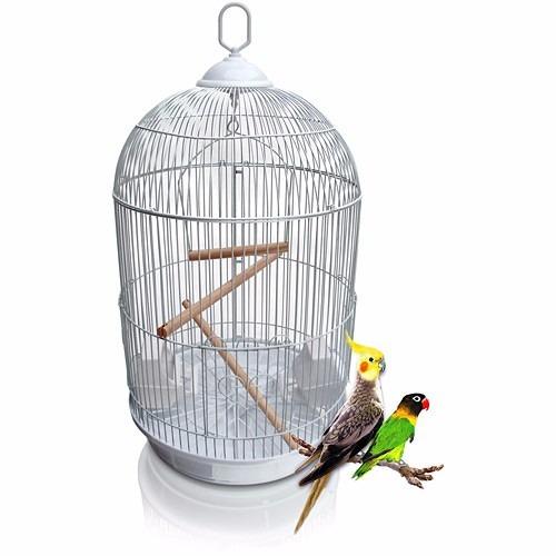gaiola redonda grande luxo passarinho agapornis calopsita