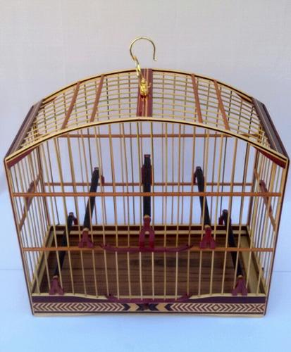 gaiola trinca ferro pixarro luxo em marchetaria artesanal