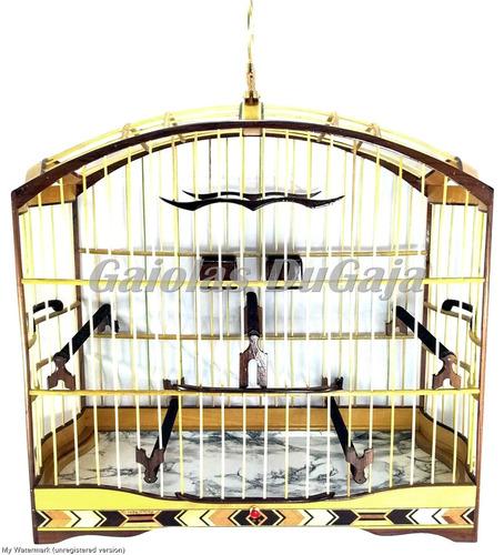 gaiola trinca ferro pixarro marchetaria luxo abaulada capa