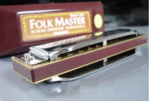 gaita blues diatônica suzuki folkmaster 1072  ré ( d )