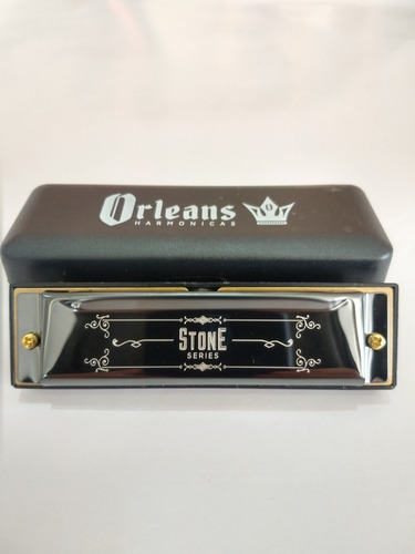 gaita boca harmônica orleans stone diatônica c dó 10 furos