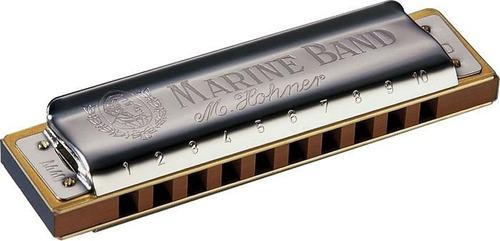 gaita harmônica hohner marine band 1896/20 em g (sol)