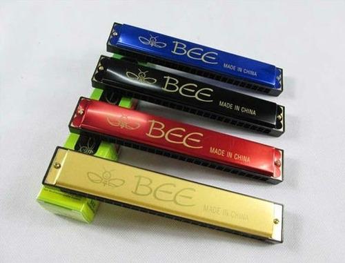 gaita harmonica 48 furos (2 linhas de 24) - marca: bee
