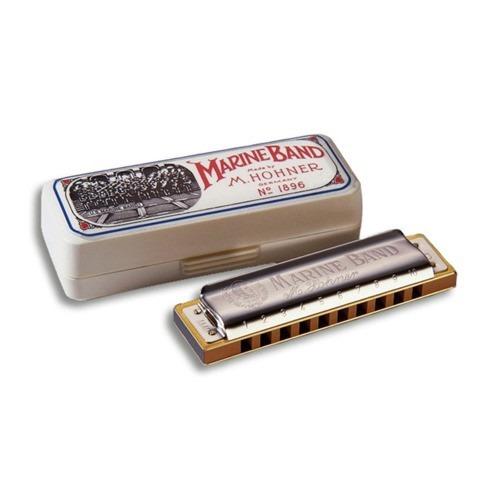 gaita harmonica hohner marine band 1896/20 em a (lá)