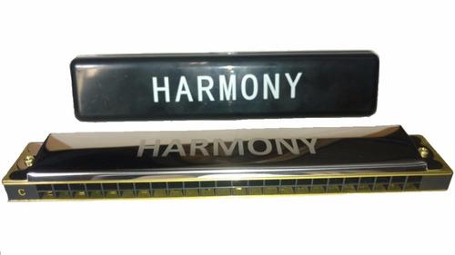 gaita harmony 24 vozes com estojo em dó (c)