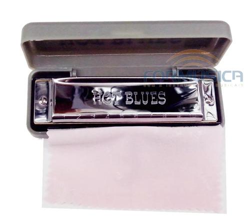 gaita hot blues hb01 diatônica afinação c - promoção!!