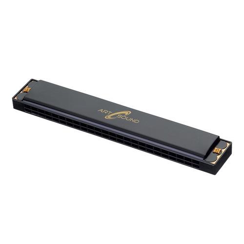 gaita pocket 24 vozes em aluminio harmonica com afinação c