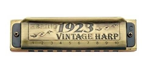 gaitas harmônica hering 10120 kit vintage harp - c-d-e-f-g-a