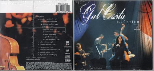 gal costa acústico cd  original e  lacrado  sony bmg