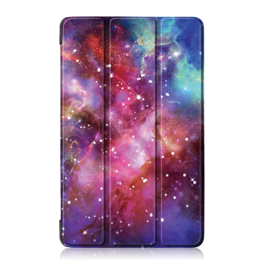 Galaxia Padrao Colorido Desenho Horizontal Sacudidela Couro R