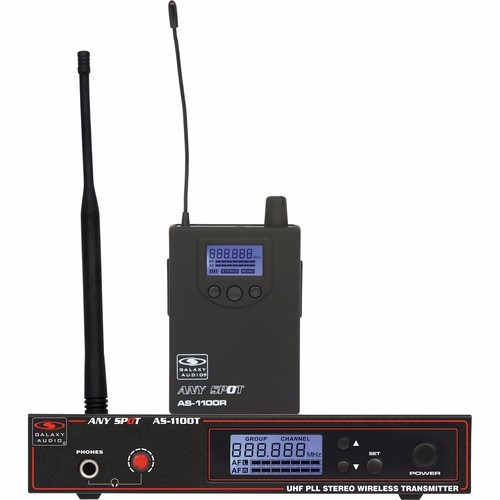 galaxy audio as-1100 sistema monitoreo transmisor y receptor