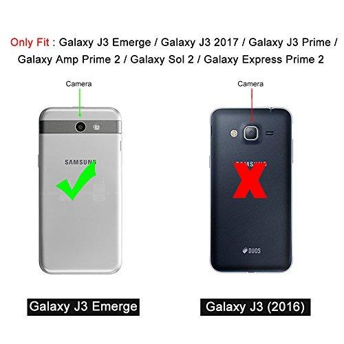 galaxy j3 emerge case, j & d [armorbox] [dual layer] hybrid