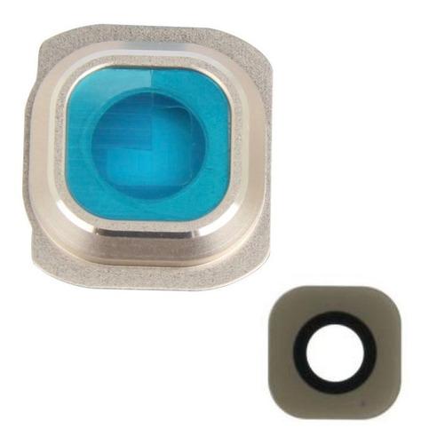galaxy s6 edge cubierta camara lente cristal marco dorado