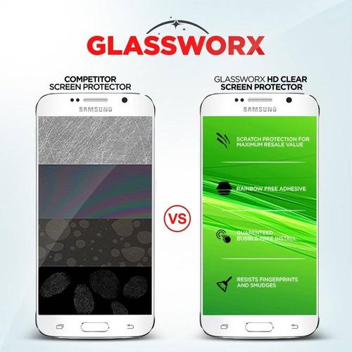 galaxy s6 protector de pantalla, glassworx 2- + envio gratis