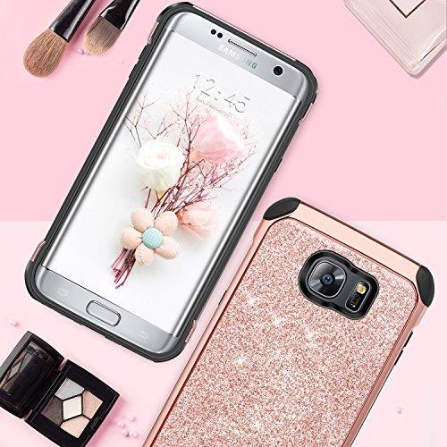 best service fdc1e 4d830 Galaxy S7 Edge Case, Bentoben 2 En 1 De Lujo Glitter Bling H